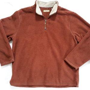 True Grit Sherpa Fleece Pullover Jacket XL Orange